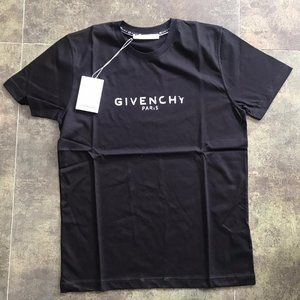 Givenchy short sleeve t-shirt men's black medium